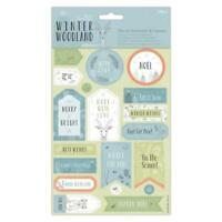 2 x Papermania Winter Woodland Die-Cut Sentiments With Toppers Sheets Card Craft