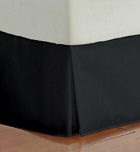 1 PC Bed Skirt US & RV Sizes Select Drop Length Black 1000 TC Egyptian Cotton