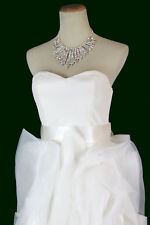 NWT Jovani Size 4 Prom Formal Cruise Long $500 High Low 100% Silk Gown White