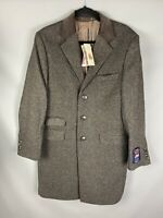 BNWT RRP £199 M&S Abraham Moon Yorkshire Tweed Men's Jacket Size M Brown Check