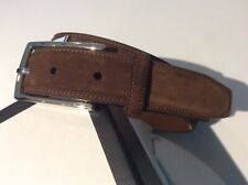 NWT $295 RLPH LAUREN SUEDE BELT WITH SILVER TONE BUCKLE -SIZE 34