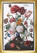10% Off Thea Gouverneur X-stitch Kit - Still Life w/Flowers in a Glass Vase - W