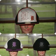 New Era Detroit Tigers Fitted Hat 7 1/8 1/4 1/2 5/8 8 Jersey Blue Black Purple