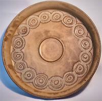 "Rosene Zaros 13"" Round Studio Art Pottery Tray Serving Platter Vintage 70s MCM"