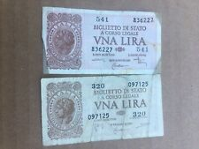 VECCHIE BANCONOTE 1 LIRA OLD BANKNOTES