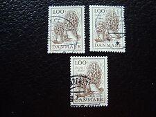 DANEMARK - timbre yvert et tellier n° 674 x3 obl (A33) stamp denmark