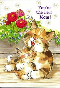 Suzy's Zoo Mother's Day Greeting Card - Wags and Whiskers - Mama Camille Kitten