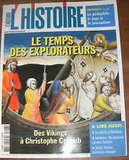 L'histoire N°296 LE TEMPS DES EXPLORATEURS EINSTEIN JULES VERNE STALINE