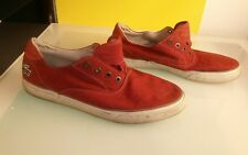 Lacoste Imatra ESS Men's shoes size 10 Red canvas good shape no laces