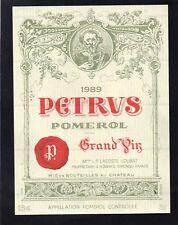 POMEROL 1ER GCC VIEILLE ETIQUETTE CHATEAU PETRUS 1989 75 CL  §26/01/18§