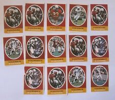 1972 Sunoco / Nfl Football Stamps - St. Louis Cardinals - Lot Of 14