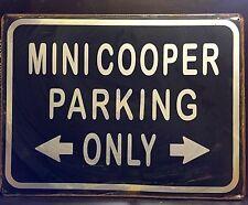 Mini Cooper Parking Letrero De Metal/Garaje Vintage Decoración de pared (30 X 40 Cm)