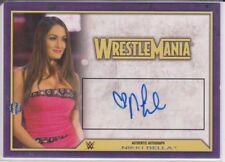 2014 Topps WWE Wrestlemania Nikki Bella Auto Autograph wrestlingcard twins