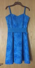 Beautiful Blue Tape Work Party Cocktail Dress In Size 12