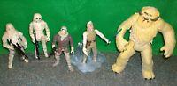 Star Wars Hoth Figure Lot - Wampa, Luke Skywalker, Han Solo, Snowtrooper - Used