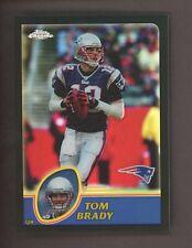 2003 Topps Chrome Black Refractor Tom Brady New England Patriots 337/599
