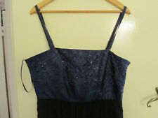 Beautiful Bright & Navy Blue Sequin Special Occasion Dress in Size 18
