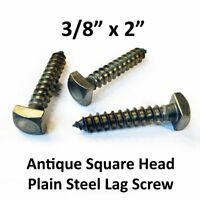 "100//pack 3//8 X 1-1//2/"" Square Head Lag Bolts BLACK OXIDE Screws Rustic Antique"