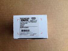 SIEMENS 52PA2W1 Maintained 2 Pos Push Pull Operator Plastic Black