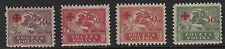 POLAND :1921 Red Cross Fund surcharges set SG 154-7   mint