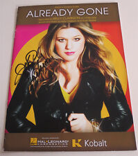 KELLY CLARKSON signed ALREADY GONE MUSIC SHEET PARTITION EXACT PROOF