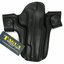 TAGUA BLACK LEATHER DUAL SNAP OPEN TOP OWB BELT HOLSTER for BERETTA 92FS 96