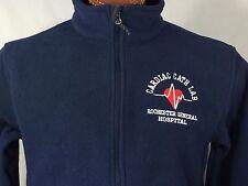 Rochester General Hospital Cardiac Cath Lab Fleece Navy Blue Medium Zip M