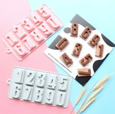 Number Silicone Chocolate Mould Jelly Cake Baking Sugarcraft Tray Fondant Mold