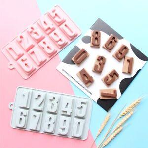 Number Silicone Chocolate Mould Jelly Cake Baking Sugarcraft Tray Fondant Mold
