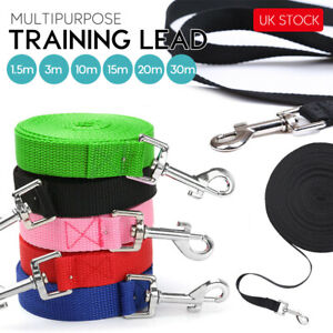 Dog & Horse Training Leash Webbing Long Line Lunge Leads Recall Obedience Rope