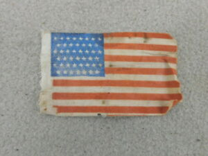 NICE WW 2 US ARMY GAUZE  INVASION FLAG AS SEWN ON SHOULDER SLEEVE