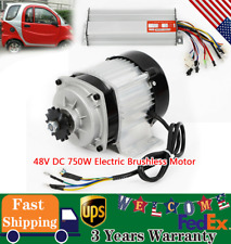 48v Dc 750w Electric Brushless Motor With Controller Diy Reduction E Bike Scooter