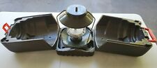 Old Coleman Propane Lantern with Coleman Clam Pack Case w/Green Coleman Lantern