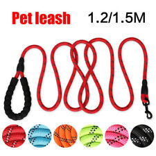 Pet Nylon Dog Leash Chew Resistant Strong Braided Lightweigh For S M L Dog Leash