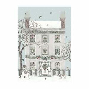 Sally Swannell Christmas Townhouse Advent Calendar Card