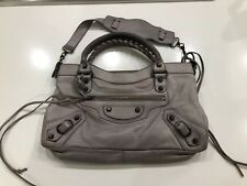 Balenciaga First Bag Grey 10 Year Anniversary Limited Edition Lizard Embossed