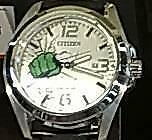 Citizen AW1431-24W Stainless Steel Eco-Drive Marvel The Hulk Quartz Mens Watch