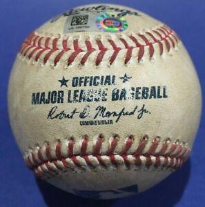 MULLINS SINGLE BLUE JAYS ORIOLES GAME USED BASEBALL AUGUST 18 2020 PEARSON MLB