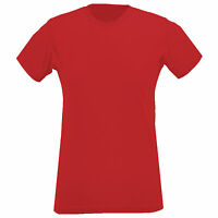 Womens Ladies Short Sleeve Crew Neck Cotton T Shirt Top Casual Work 8 10 12 14