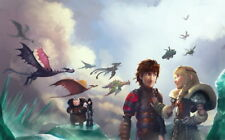 """024 How to Train Your Dragon 3 - The Hidden World Hiccup Movie 38""""x24"""" Poster"""