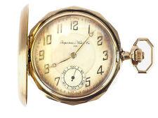 Importation Watch & Co 585 14 K Gold mechanische Herren Sprungdeckel Taschenuhr