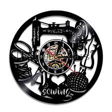 Sawing Machine Wall Clock I Love Sewing Vinyl Record Wall Clock Seamer Room Gift