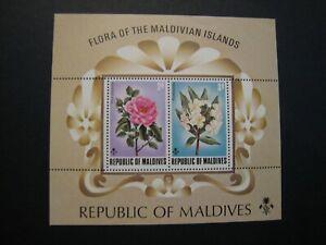 Republic of Maldives Flowers Stamp S/S lot of 4 2v each  MNH OG
