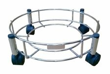 Stainless Steel Cylinder Trolley with Wheels   Gas Trolly / LPG Cylinder Stand-a