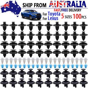 100 x For TOYOTA LEXUS Bumper Wheel Arch Clips Trim Panel Push Rivets Fastener