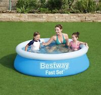 Inflatable Large Family Size Round Water Swimming Outdoor Garden Paddling Pool