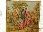 VINTAGE AUTHENTIC SIGNED MADE IN FRANCE COURTING LOVE SCENE TAPESTRIES