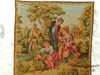 VINTAGE AUTHENTIC MADE IN FRANCE COURTING LOVE SCENE TAPESTRIES