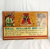 Alabama Crimson Tide Paul Bear Bryant Wood Clock AS IS - Vintage
