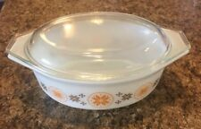 PYREX Town And Country VTG OVAL CASSEROLE BAKING DISH #163